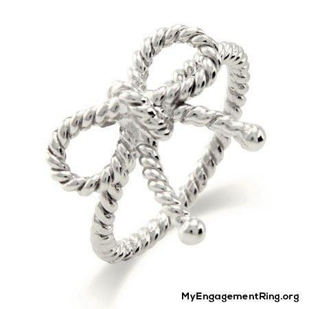 sterling silver infinity bow engagement ring - My Engagement Ring