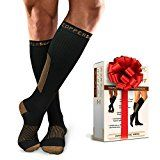 SportsMate Gear Copper Support Compression Socks (Large-XLarge (L-XL))