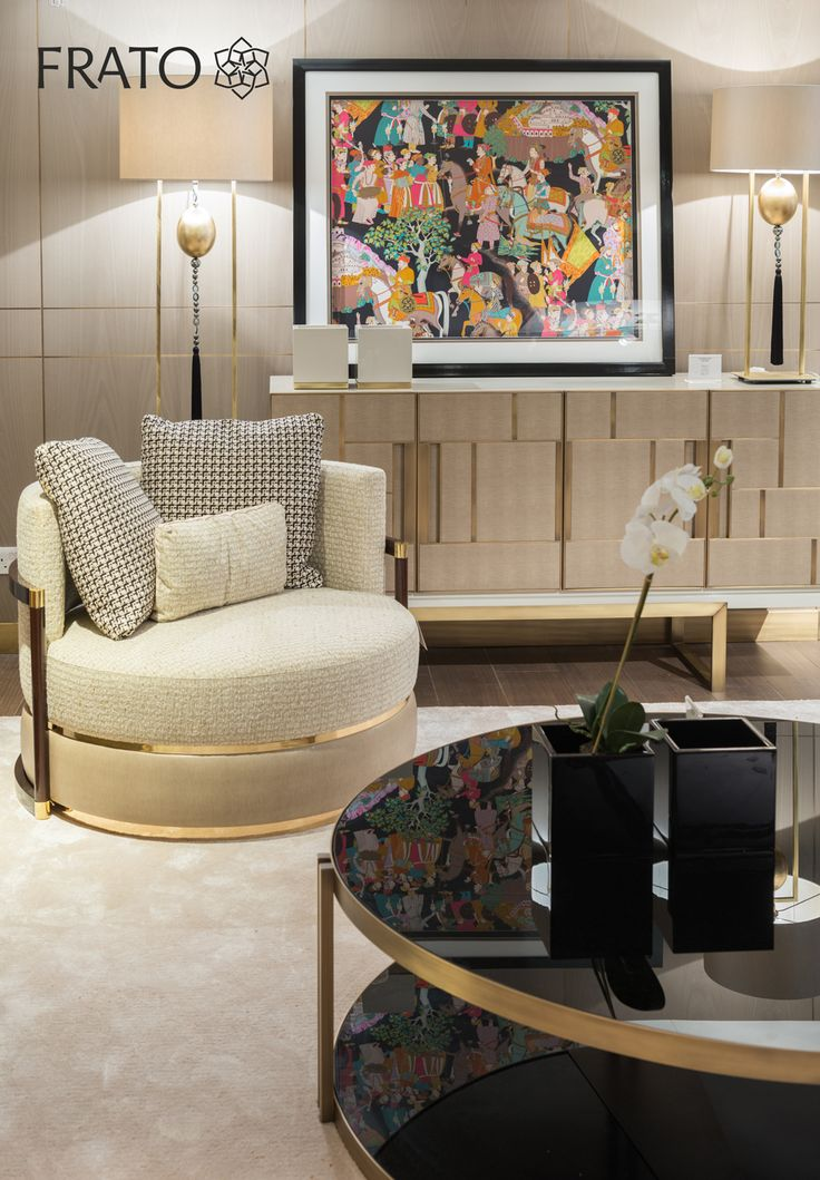 The refurbished space includes brand new pieces of furniture, upholstery, rugs and lighting, blending classic and contemporary styles in a soft warm range of colours designed to provide up-to-date and cosmopolitan home furnishing solutions.    #Frato #Harrods #Store #3rdFloor #Cosmopolitan #Furniture, #Upholstery #Rugs #Lighting
