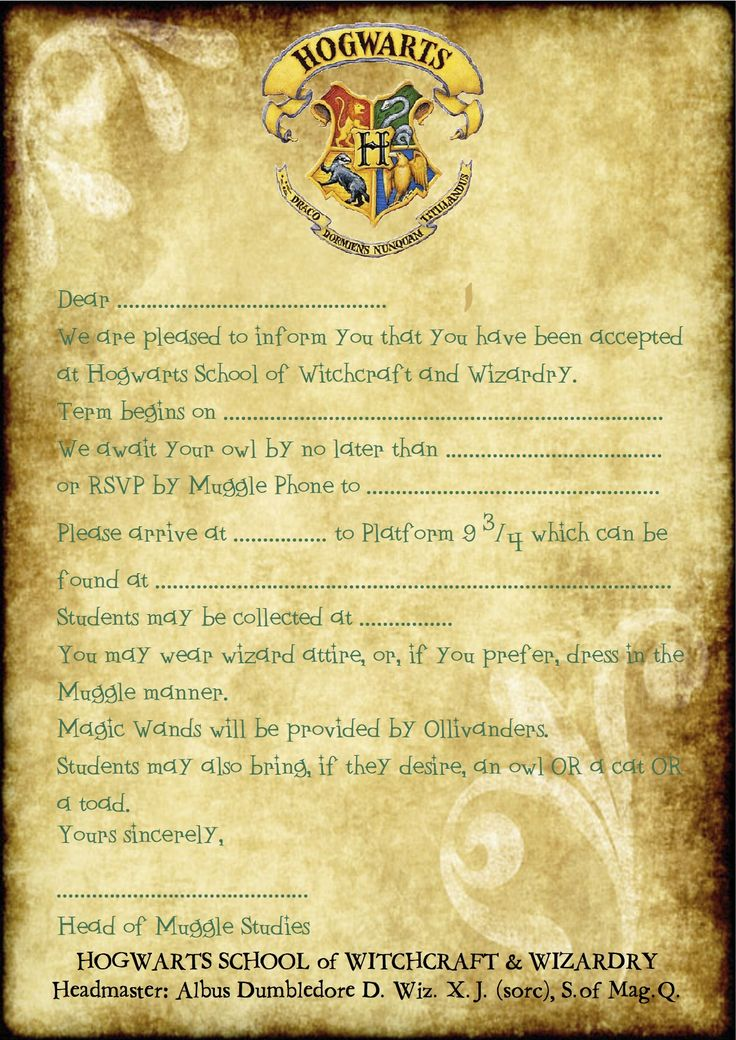 Free Printable Harry Potter Party blank parchment (A4 size):   Art ...