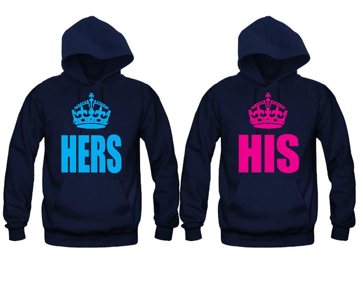 His and Hers Crowns Unisex Couple Matching Hoodies