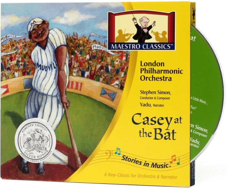 Get 25% OFF Casey at the Bat CD & 24-Page Activity Booklet by Maestro Classics. Casey at the Bat, the classic baseball poem by Ernst Lawrence Thayer, joins Maestro Classics delightful Stories in Music™ series as the London Philharmonic, conductor Stephen Simon and narrator Yadu, create a magical listening experience.