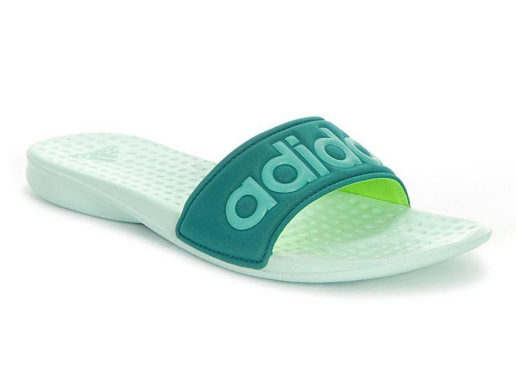 Klapki damskie firmy Adidas. Wykonane z najwyższej jakości materiałów syntetycznych zapewniających trwałość produktu i wygodę użytkowania. Charakteryzujące się oryginalnym wzornictwem. Idealne na upalne dni, sprawdzą się również jako obuwie plażowe, na basen lub pod prysznic. Zastosowane materiały sprawiają, że klapki są bardzo lekkie i wygodne.