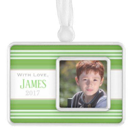 HAMbyWG - Ornament - Green Stripes - diy cyo customize create your own #personalize