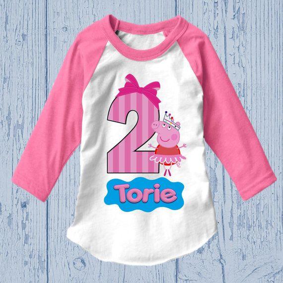 Peppa Pig Birthday Shirt by FashionistaStylez on Etsy