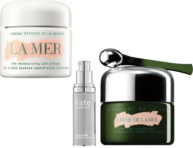 Creme de La Mer (275$ per 30 ml) e crema per il contorno occhi La Mer Eye Concentrate (190$)