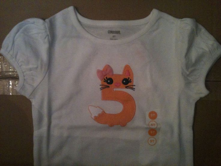 New Gymboree 5-th Birthday Tee Shirt Short Sleeve Top Kitty White Party Girl 5T  #Gymboree #DressyHoliday