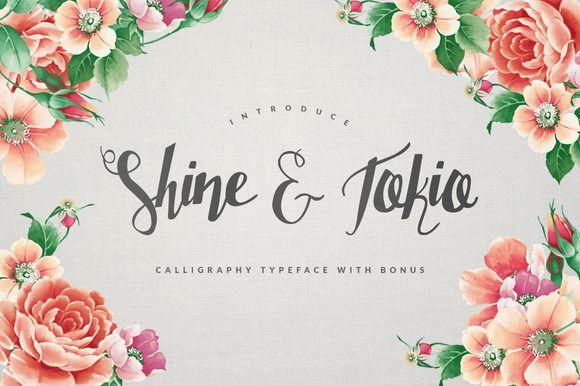 Shine & Tokio Typeface + BONUS by Maulana Creative on Creative Market