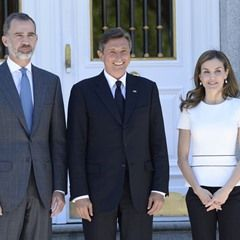 Spanish King and Queen receive Slovenian President (341557)
