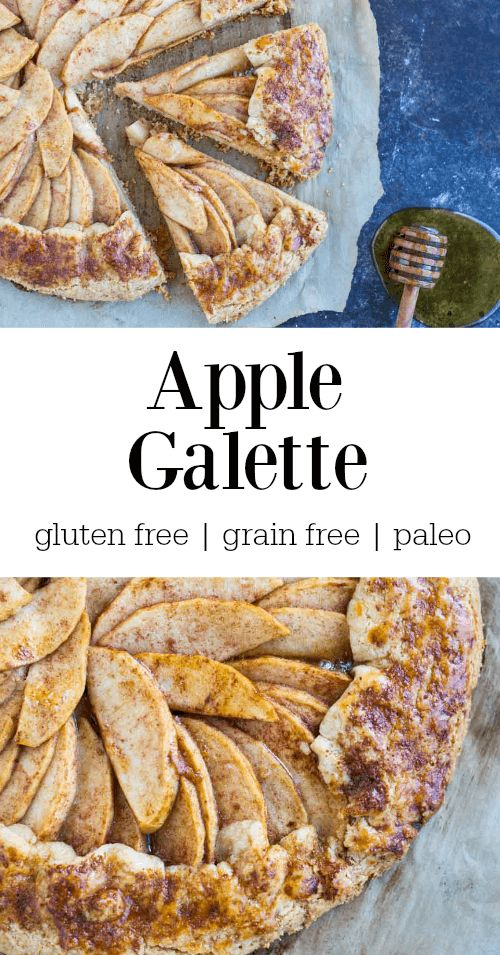 This apple galette features perfectly cooked spiced apples drizzled with honey and butter nested in a savory sweet, flaky gluten free crust.