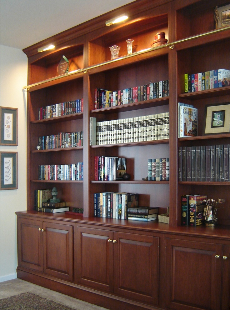 Built In Bookcases With Cabinets On The Bottom In 2019