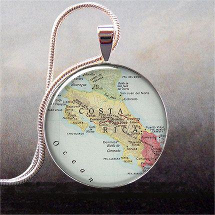 I so need this! Costa Rica map pendant charm Costa Rica by thependantemporium, $8.95