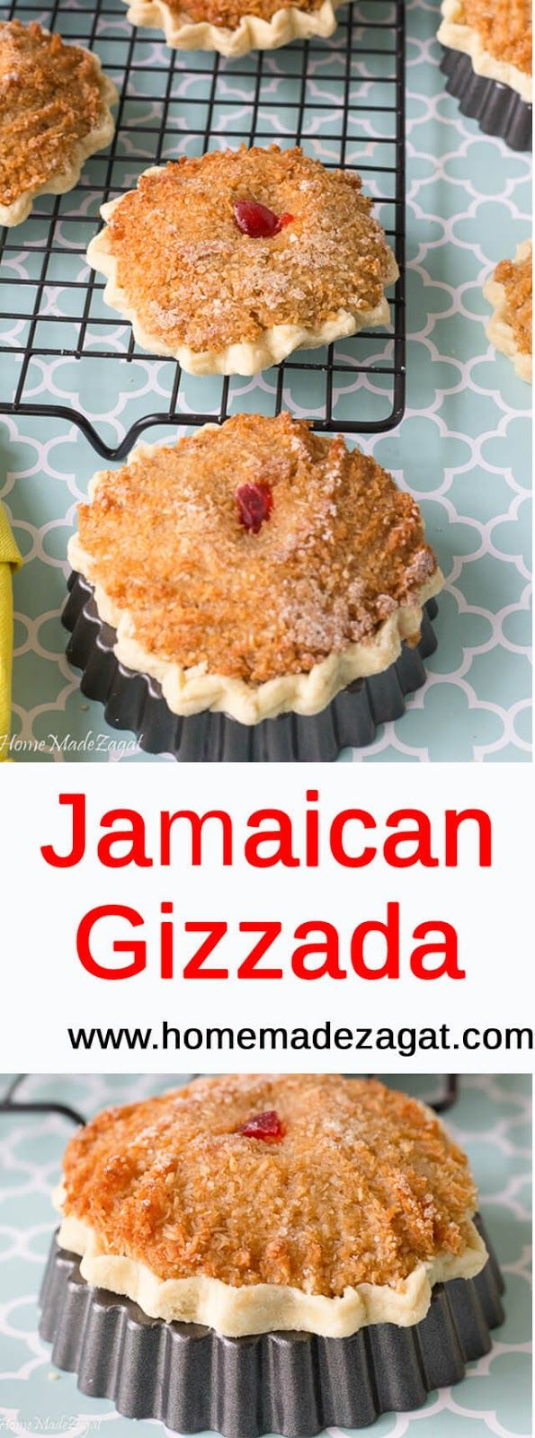 A traditional Jamaican and Portuguese dessert, this coconut pastry snack is an all time open face tart with grated, spiced sweetened coconut.
