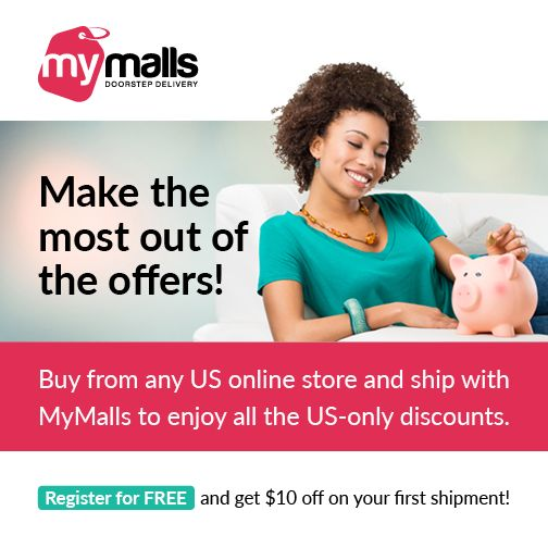 Buy from any US #online stores and ship through us to get your exclusive $10 off on your first shipment. Register today.