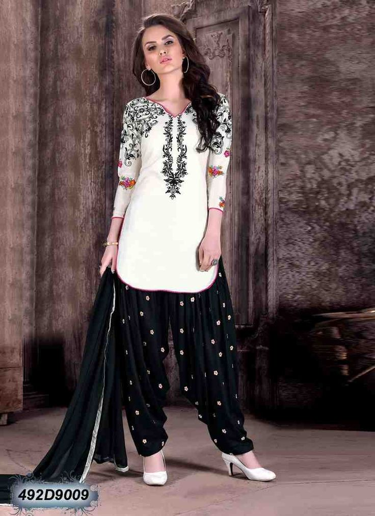 Buy Immaculate Off White Colored Cotton Unstitched Salwar Suit Get 30% Off on Designer Salwar Suits From Leemboodi Fashion with Free Shipping in INDIA Use Coupon Code: RAKHI15 to Get 15% off on Every Product of Leemboodi Fashion Now Available on Cash On Delivery