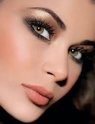 Maquillage yeux vert marron
