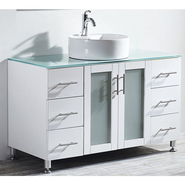 vinnova tuscany 48 inch single vanity in white with
