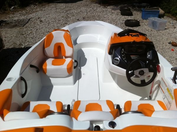 Sea Doo Speedster Boat just like ours - in red & white color. Love this