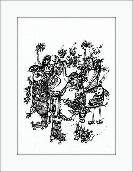 HäkelBild I von Etelka Kovacs-Koller - mad for art auf DaWanda.com