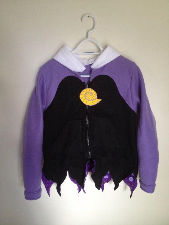 Disney Little Mermaid Inspired Ursula Sea Witch Fleece hoodie shirt (Child sizes) on Etsy, $100.00