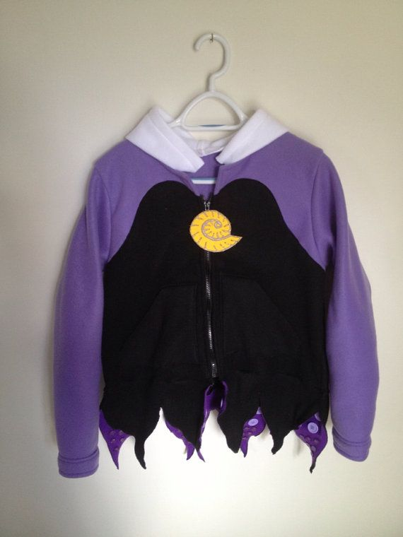 Disney Little Mermaid Inspired Ursula Sea Witch Fleece hoodie shirt (Child sizes) on Etsy, $100.00