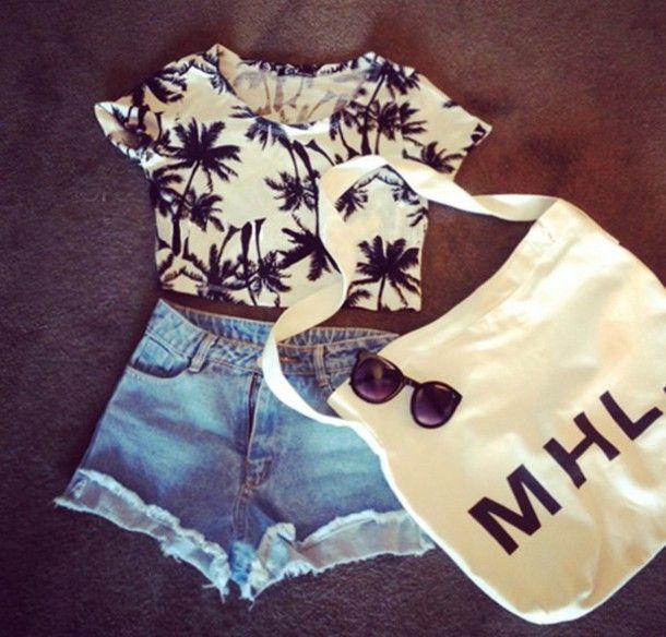 Top: croppped, crop tops, crop, black, white, bw, cute, shirt, t ...
