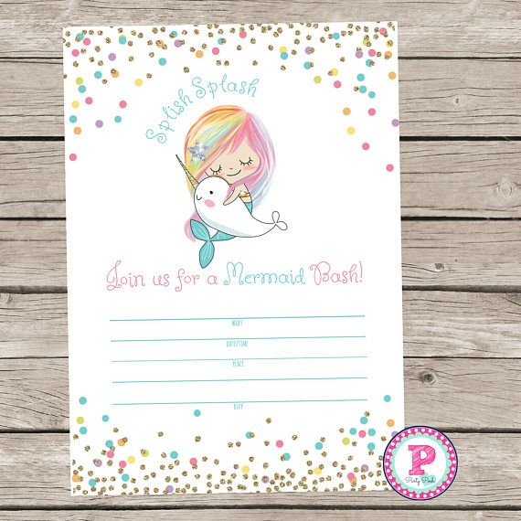 12 best mermaid party ideas images on pinterest mermaid parties mermaid bash narwhal pool party fill in the blank style birthday party invitation instant download summer time swimming splish splash 5x7 filmwisefo