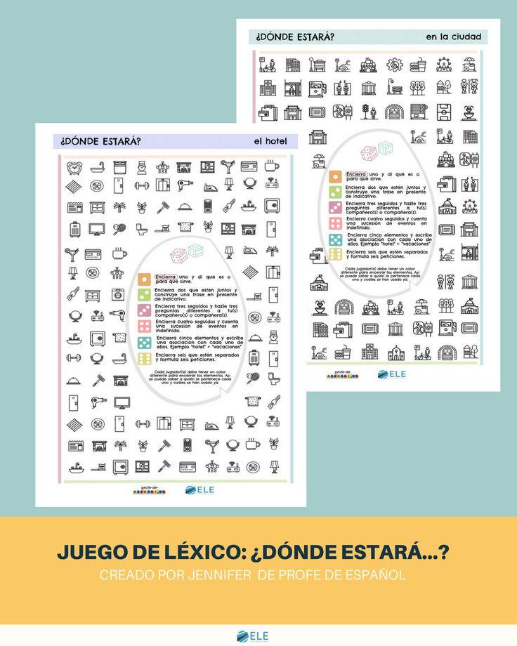 NUEVO POST ¿Dónde estará la ciudad? ¿Y el hotel? Ya podéis probar nuestro nuevo juego de léxico https://www.eleinternacional.com/donde-estara-juego-de-lexico/ ¿Te gusta? #SpanishTeachers