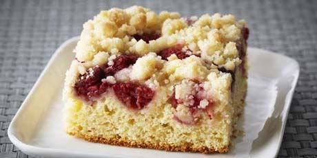 Raspberry Ricotta Buckle Recipe (from Bake with Anna Olson)