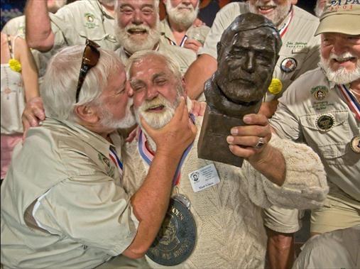 Hemingway look-alikes.  Yep, uh-huh