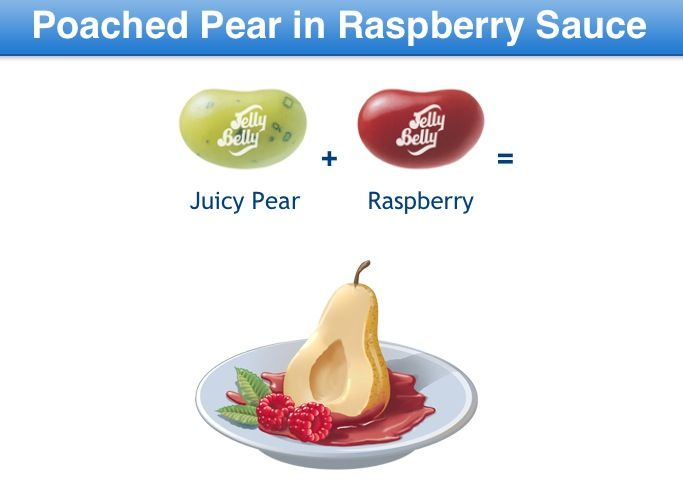 Poached Pear In Raspberry Sauce Jelly Belly Flavor Guide Recipes