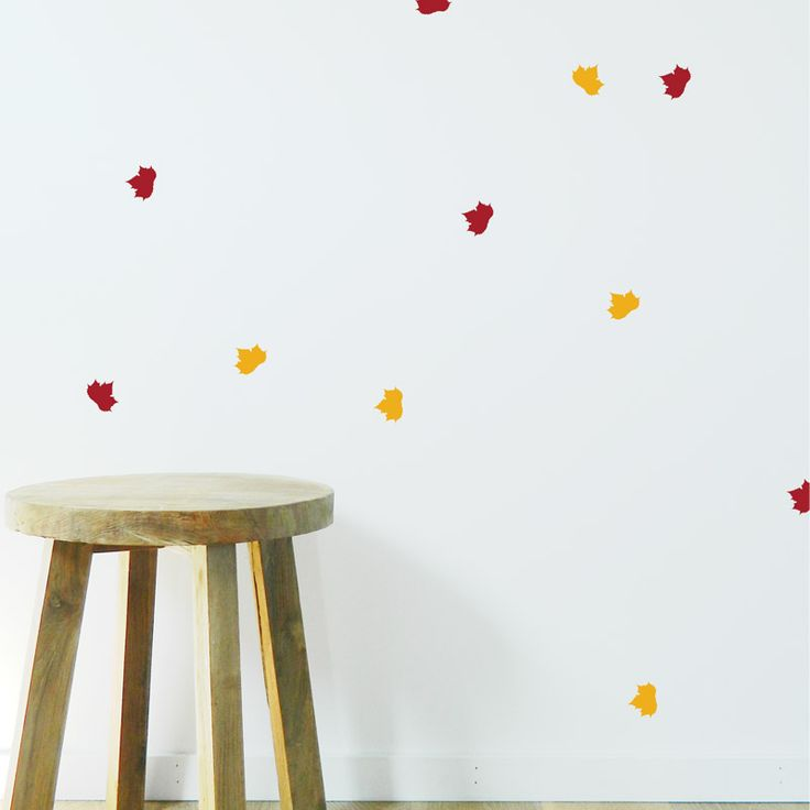 These leaf wall stickers are great baby room wall decals. Choose from lots of colours to cover your baby room in leaves of every season.  #leaf #wallsticker #walldecals