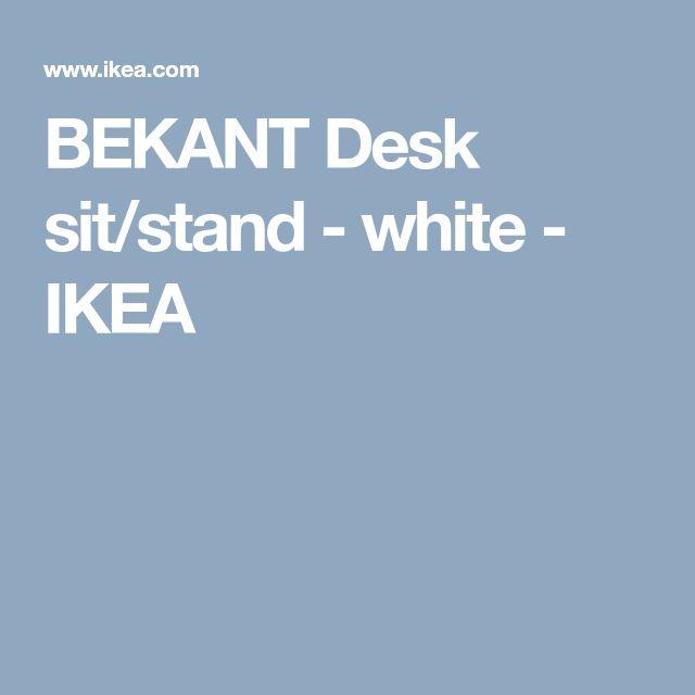 BEKANT Desk sit/stand - white - IKEA