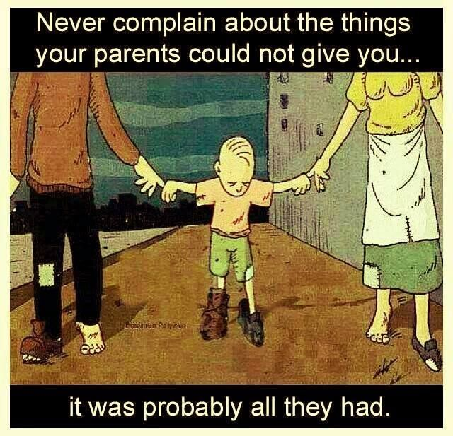Sometimes we forget the sacrifices our parents made for us...a little THANK YOU Note would bring a smile on their face... ♥