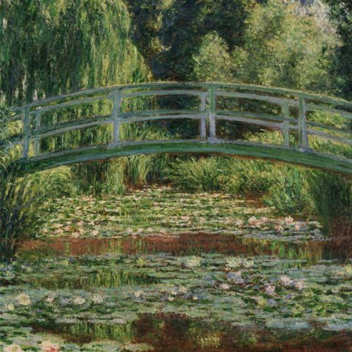 The Japanese footbridge and the water lily pool, Claude Monet. Blank journal: 150 blank pages, 8,5 x 8,5 inch (21.59 x 21.59 centimeters) Laminated. (Paper notebook, composition book) by Studio Beeker http://www.amazon.com/dp/1522917357/ref=cm_sw_r_pi_dp_MgCFwb0QM8ZJK