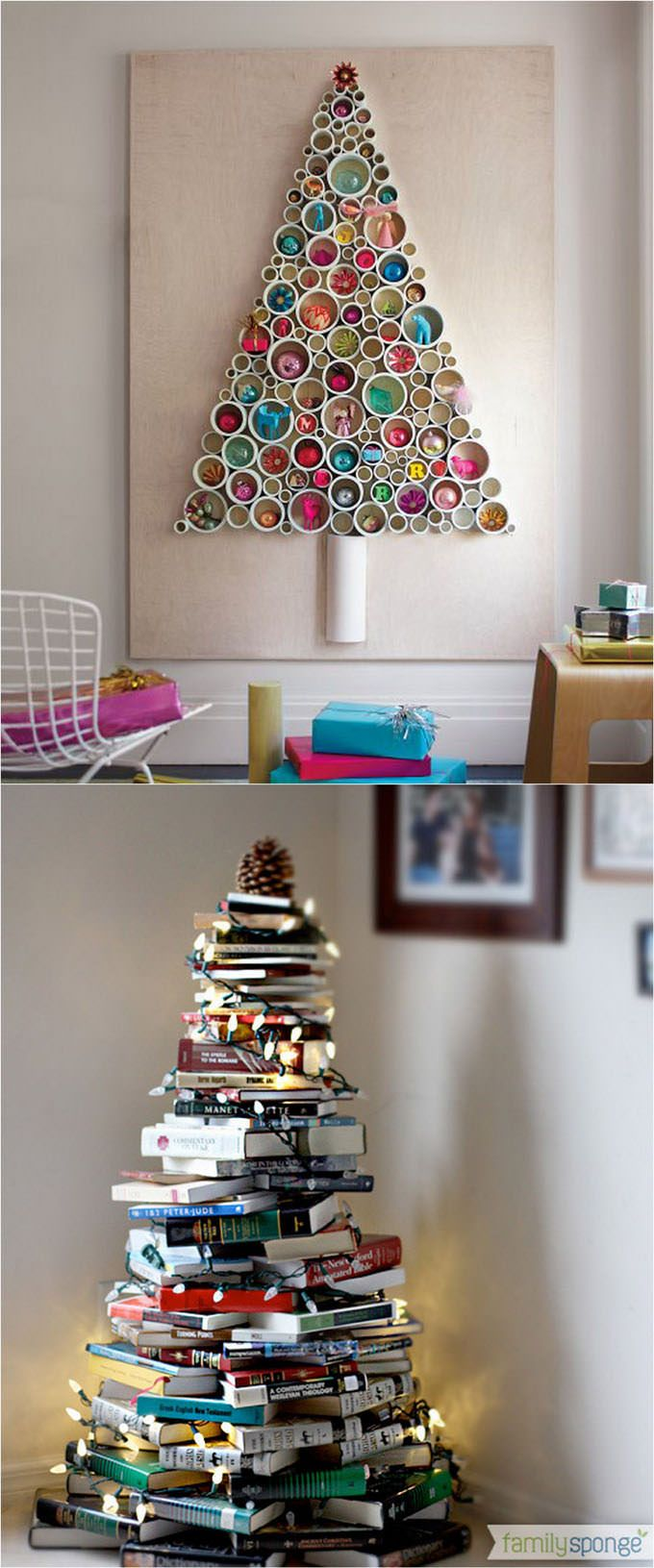 Unique, out of the box and unbelievable DIY Christmas tree ideas from different items, you should look at now!