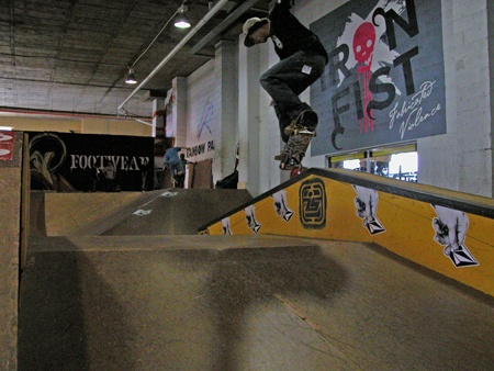 Lloyd hodoul nollie over to crooks.  http://www.this-is-illegal.com/1/post/2013/03/rip-pavillion-park.html