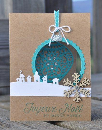 Carte de Noël Ode à Noël Tour de traineau par Marie Meyer Stampin up - http://ateliers-scrapbooking.fr/