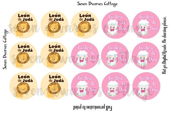 Spanish religious kids saying,  Christian saying, Leon DE Juda, Cordero de Dios bci bottle cap  Hey, I found this really awesome Etsy listing at https://www.etsy.com/listing/509081360/leon-de-juda-cordero-de-dios-4x6-one-1