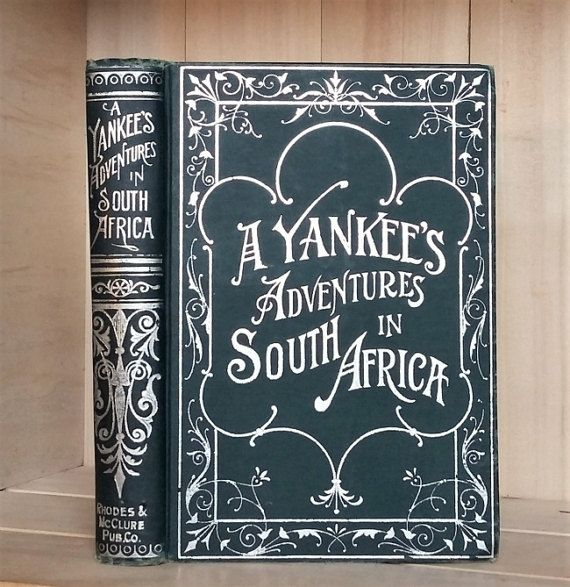 Antique Book 1902 A Yankee's Adventures in by CrookedHouseBooks