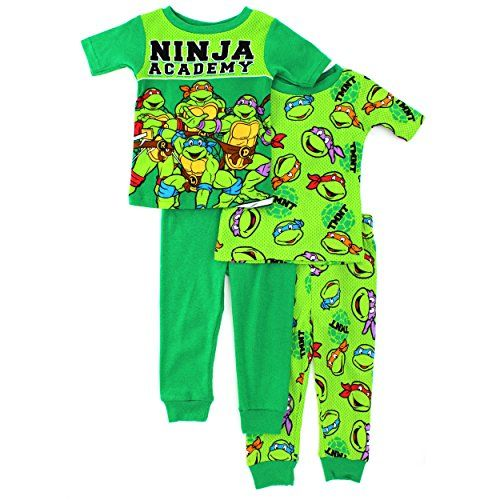 TMNT Ninja Turtles Toddler 4 pc Cotton Pajamas Set (2T) Nickelodeon http://www.amazon.com/dp/B00TRLZXSC/ref=cm_sw_r_pi_dp_lrn9ub0AEWES1