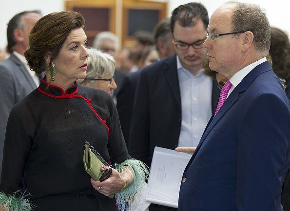 Prince Albert of Monaco and Princess Caroline of Hanover attended the opening of the Art Monte Carlo 2017 exhibition at the Grimaldi Forum in Monte-Carlo, Monaco. Art Monte-Carlo is a new art exhibition, which aims to establish an artistic platform on the French Riviera (Côte d'Azur).