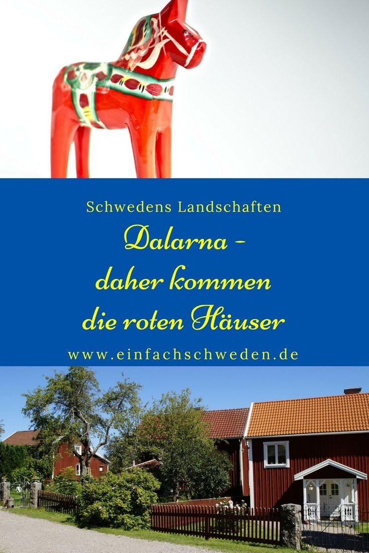 Traditionelle Mittsommerfeiern, rote Holzhäuser, das rote Dalapferd, der Vasalauf und noch vieles mehr sind berühmt für Dalarna, einer der Landschaften in Schweden.