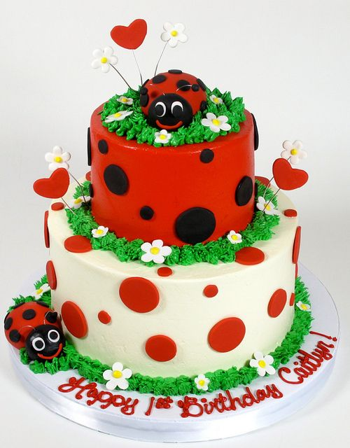 Lady Bug Tiered Theme by Creative Cakes - Tinley Park, via Flickr