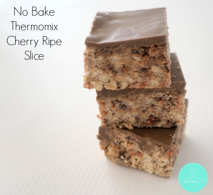 Slice recipes really don't get much easier than this 4 ingredient no bake Cherry…