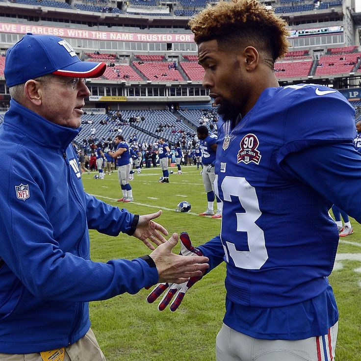 Odell Beckham Jr. just keeps piling up yards and scoring touchdowns, but Tom Coughlin wouldn't mind seeing him calm down with his celebrations just a little bit...