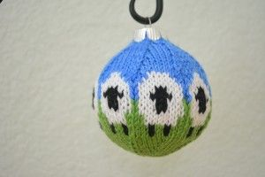 Knitted Sheep Christmas Ornament
