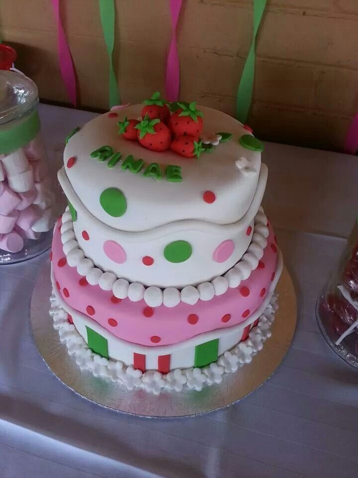 Strawberry short cake themed cake