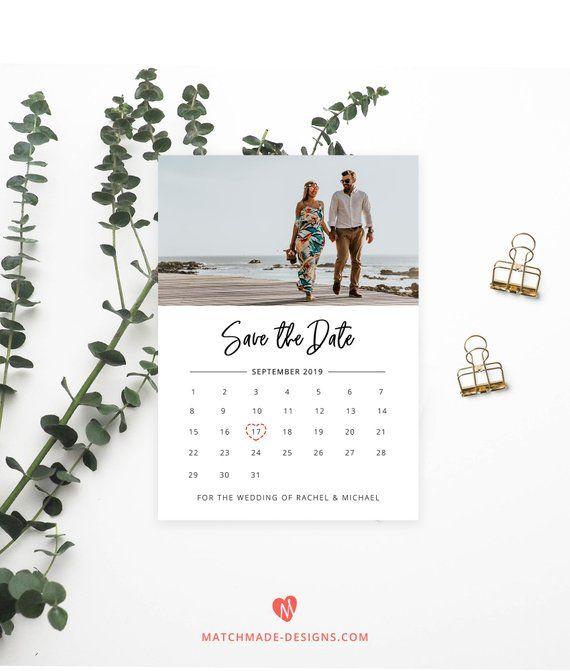 Photo Save The Date Template Calendar