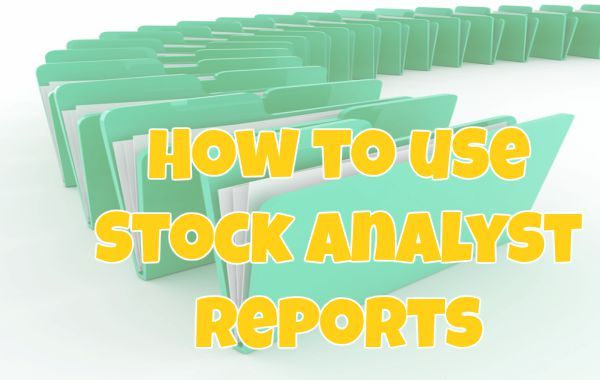 < How to use Stock Analyst Reports >  Usually investors place a lot of emphasis on buy, sell or hold recommendations from stock analysts' reports and their stated target prices. As there are many areas of study by an analyst before writing a company report, it is crucial for investors to understand how to make use of the report the correct way. Without such understanding, it would be quite difficult to use reports profitably.